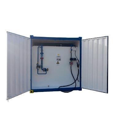 konténerkút, zárt konténerben elhelyezett üzemanyagtartály, komplett konténerkút